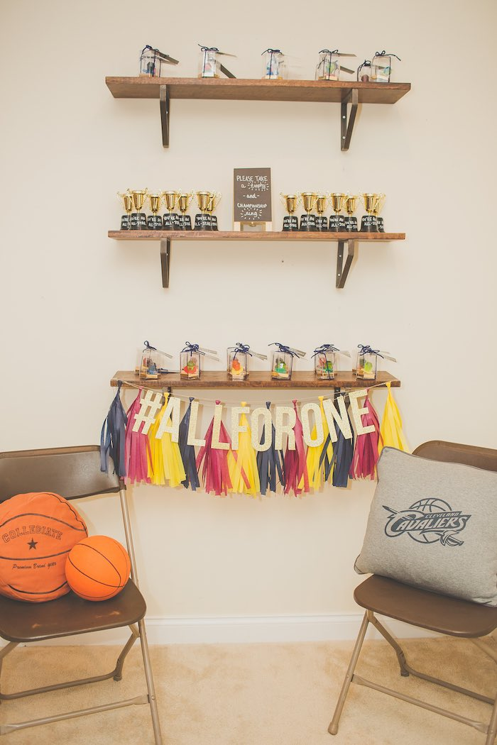 Favor Display from a Basketball Birthday Party via Kara's Party Ideas KarasPartyIdeas.com (14)