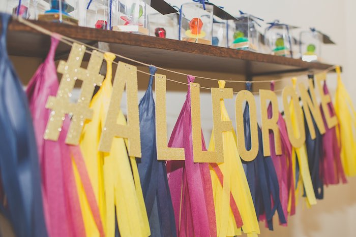 Banner + Bunting from a Basketball Birthday Party via Kara's Party Ideas KarasPartyIdeas.com (13)