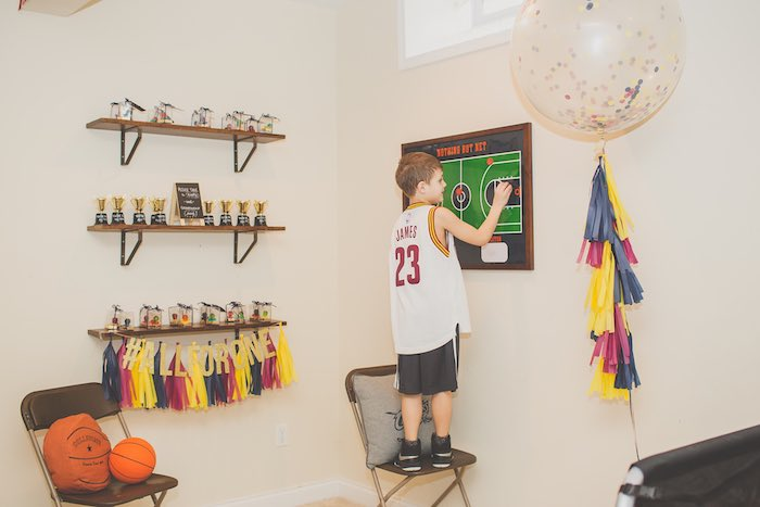 Displays + Details from a Basketball Birthday Party via Kara's Party Ideas KarasPartyIdeas.com (11)