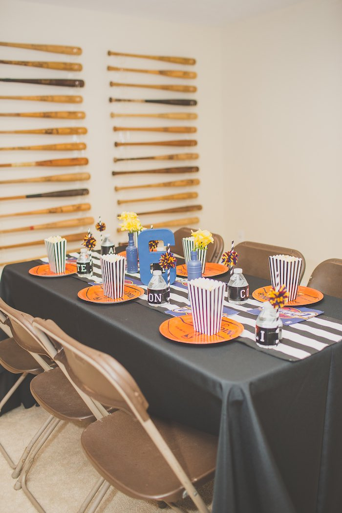 Dining Table from a Basketball Birthday Party via Kara's Party Ideas KarasPartyIdeas.com (7)
