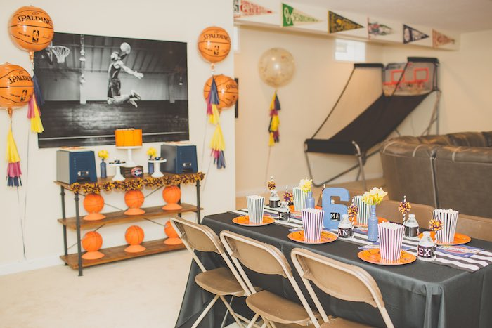 Partyscape from a Basketball Birthday Party via Kara's Party Ideas KarasPartyIdeas.com (5)