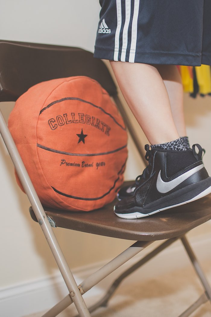 Basketball Pillow + Decor from a Basketball Birthday Party via Kara's Party Ideas KarasPartyIdeas.com (27)