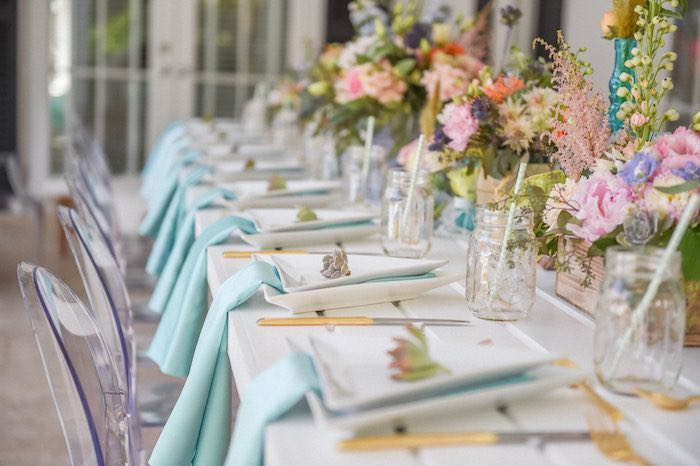 dining tablescape from a boho chic baby shower via kara 39 s party ideas