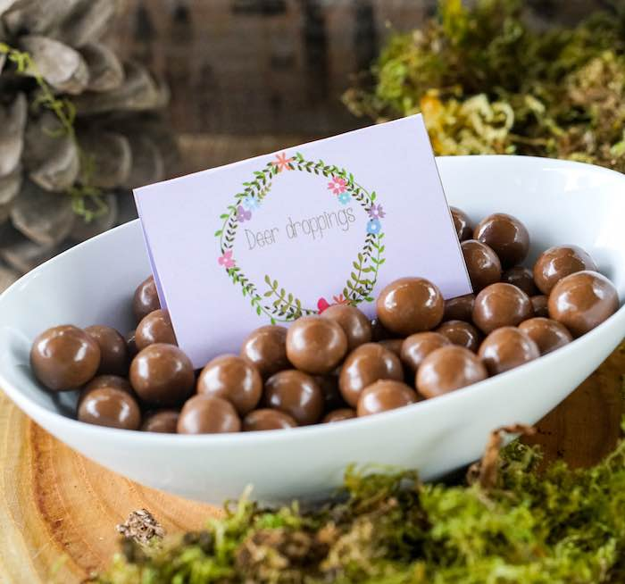Chocolates + Deer Droppings from a Boho Enchanted Forest Birthday Party via Kara's Party Ideas | KarasPartyIdeas.com (10)