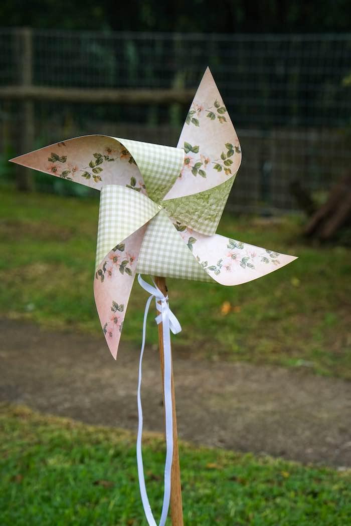 Pinwheel Decoration from a Boho Enchanted Forest Birthday Party via Kara's Party Ideas | KarasPartyIdeas.com (9)