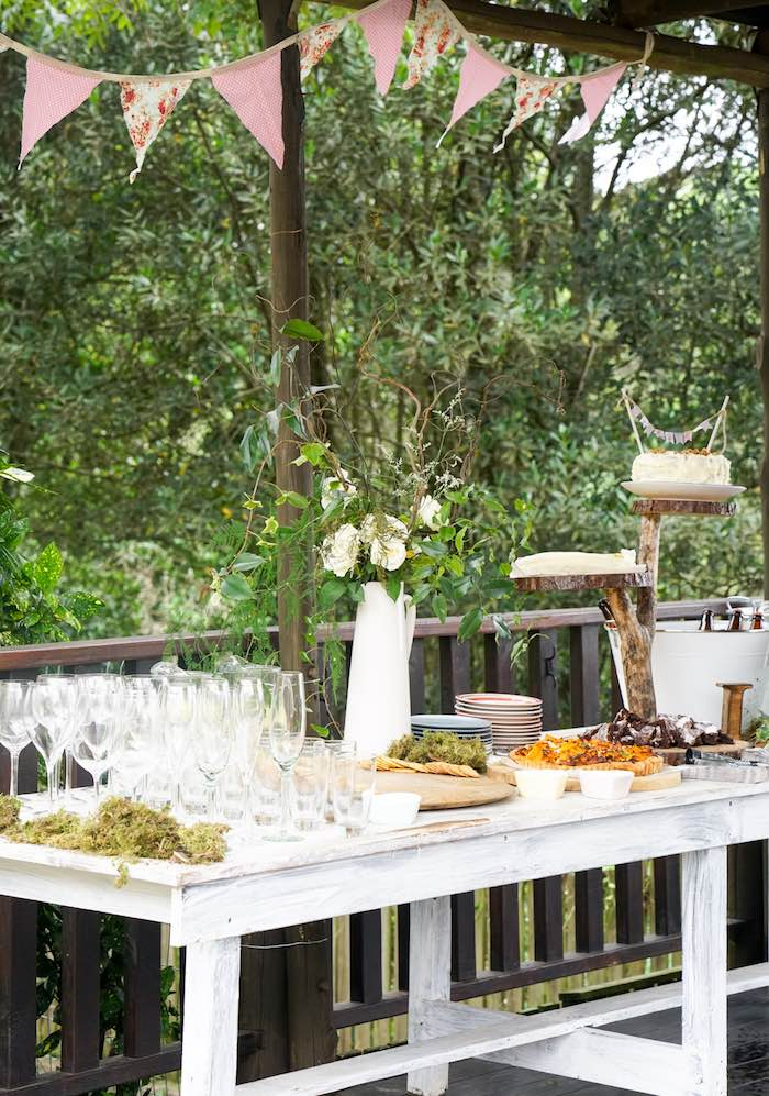 Food Table from a Boho Enchanted Forest Birthday Party via Kara's Party Ideas | KarasPartyIdeas.com (7)