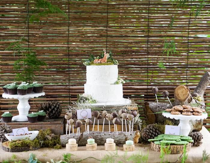 Dessert Table from a Boho Enchanted Forest Birthday Party via Kara's Party Ideas | KarasPartyIdeas.com (5)