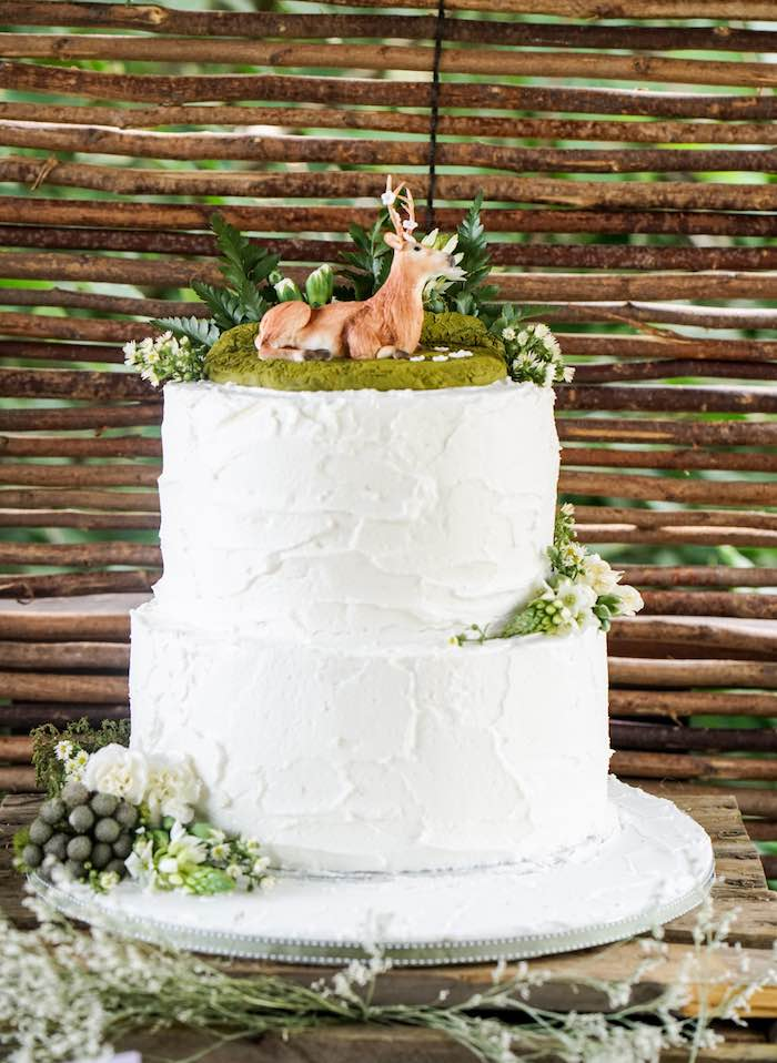 Enchanted Forest Birthday Cake from a Boho Enchanted Forest Birthday Party via Kara's Party Ideas | KarasPartyIdeas.com (19)