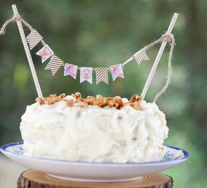 Cake from a Boho Enchanted Forest Birthday Party via Kara's Party Ideas | KarasPartyIdeas.com (17)