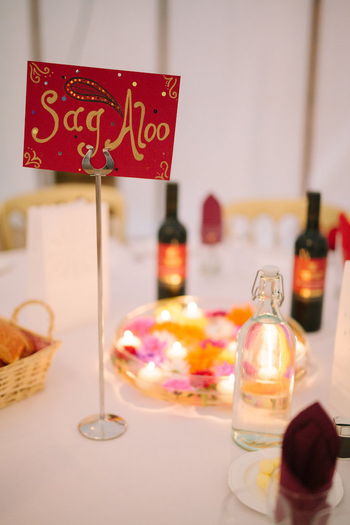 Guest Table Card + Assignment from a Bollywood Black Tie Birthday Party via Kara's Party Ideas KarasPartyIdeas.com (20)