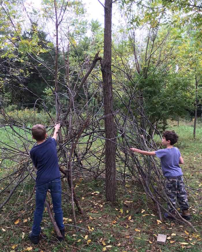 Shelter Making Activity from a Boy vs. Wild Birthday Party via Kara's Party Ideas |The Place for All Things Party! KarasPartyIdeas.com (7)