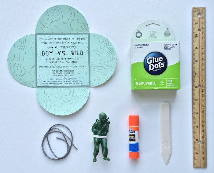 Invite Supplies from a Boy vs. Wild Birthday Party via Kara's Party Ideas |The Place for All Things Party! KarasPartyIdeas.com (11)