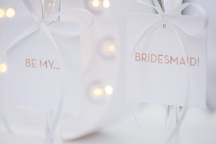 Tags from a Bridesmaid Reveal Party via Kara's Party Ideas | KarasPartyIdeas.com (14)