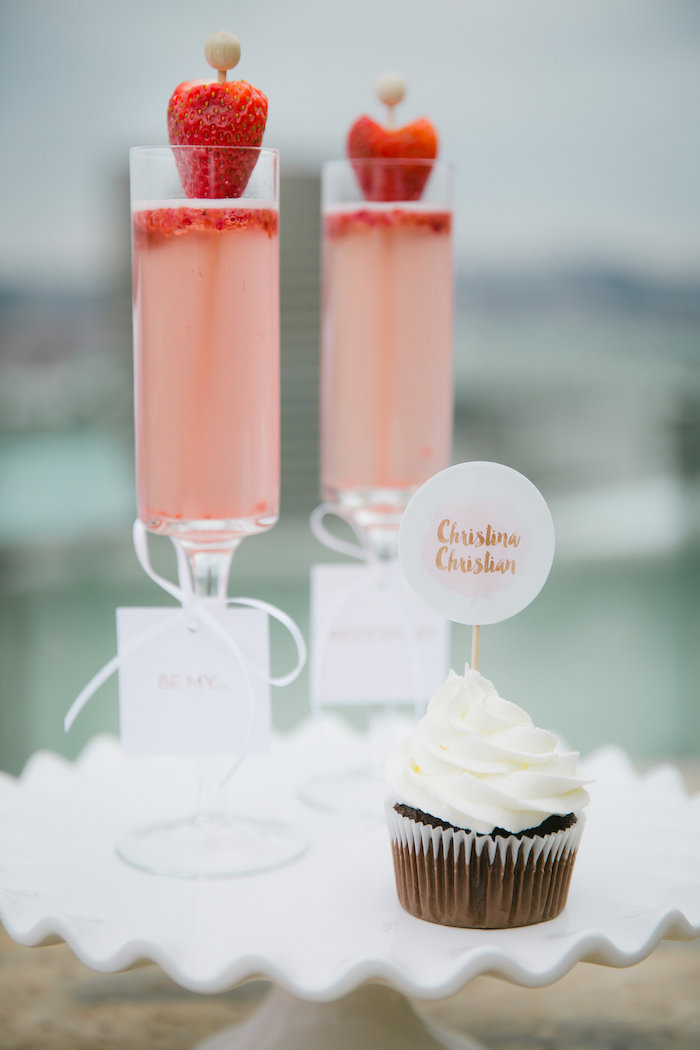Drinks from a Bridesmaid Reveal Party via Kara's Party Ideas | KarasPartyIdeas.com (9)