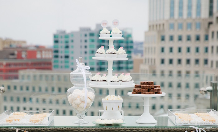 Sweet Table from a Bridesmaid Reveal Party via Kara's Party Ideas   KarasPartyIdeas.com (7)