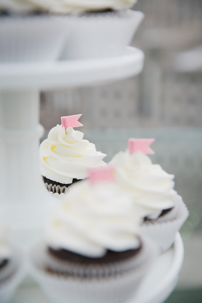 Cupcakes from a Bridesmaid Reveal Party via Kara's Party Ideas | KarasPartyIdeas.com (5)