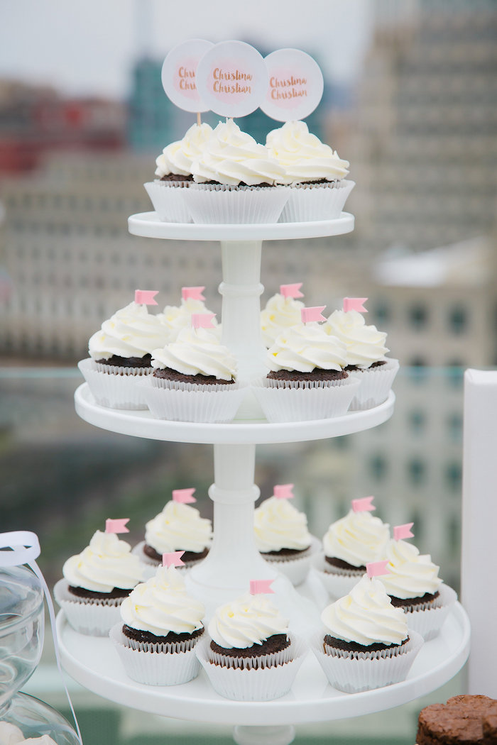 Cupcakes from a Bridesmaid Reveal Party via Kara's Party Ideas | KarasPartyIdeas.com (20)