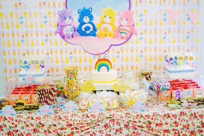 Kara S Party Ideas Care Bears Themed Birthday Party Kara S Party