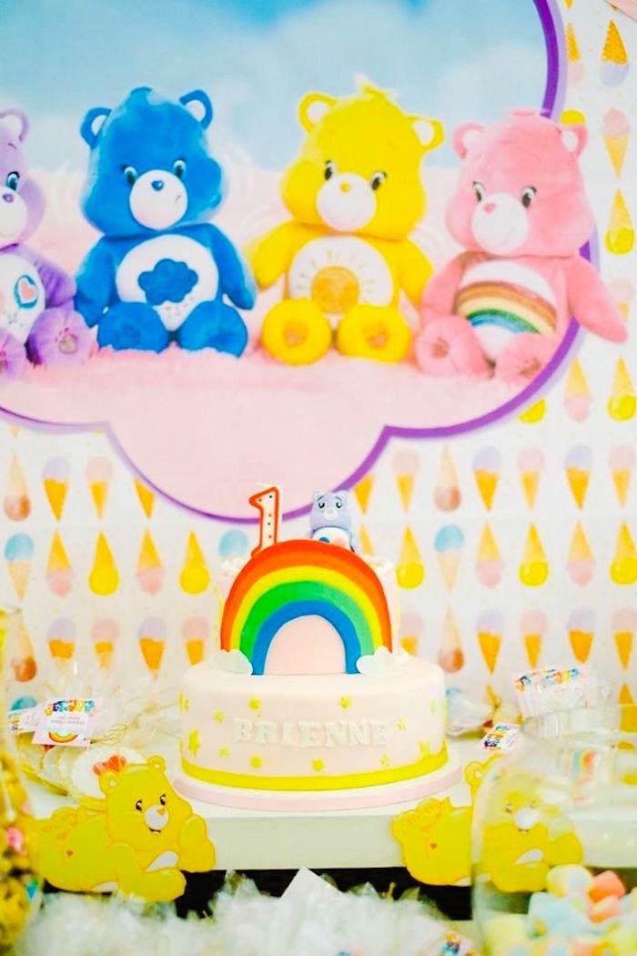 Cake Table from a Care Bears Themed Birthday Party via Kara's Party Ideas KarasPartyIdeas.com (40)