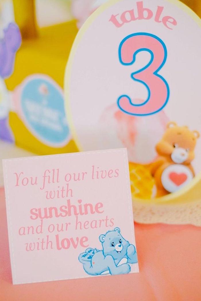 Stationery + Card from a Care Bears Themed Birthday Party via Kara's Party Ideas KarasPartyIdeas.com (39)