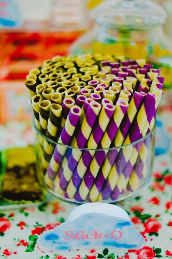Wafer Sticks from a Care Bears Themed Birthday Party via Kara's Party Ideas KarasPartyIdeas.com (38)
