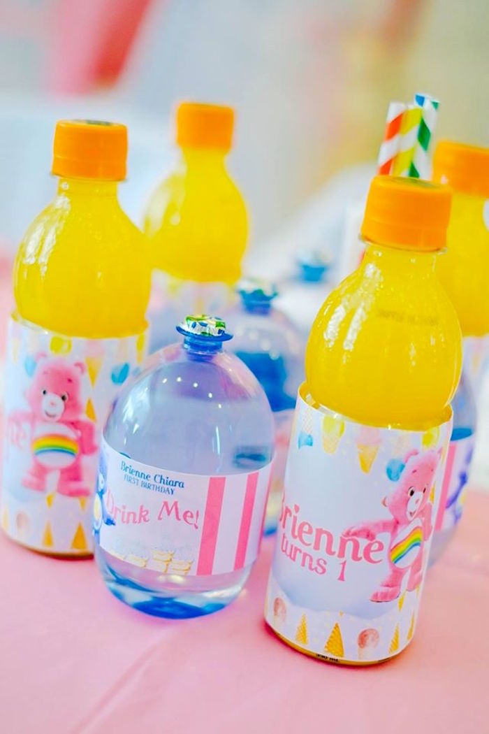 Drinks from a Care Bears Themed Birthday Party via Kara's Party Ideas KarasPartyIdeas.com (36)