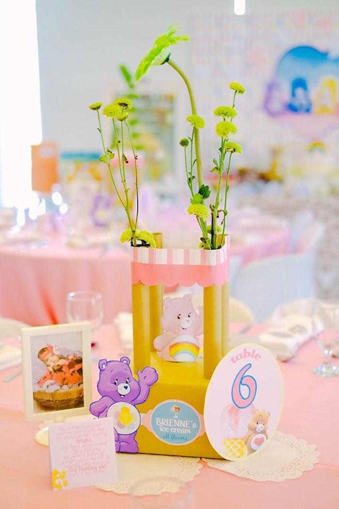 Table Centerpieces from a Care Bears Themed Birthday Party via Kara's Party Ideas KarasPartyIdeas.com (34)