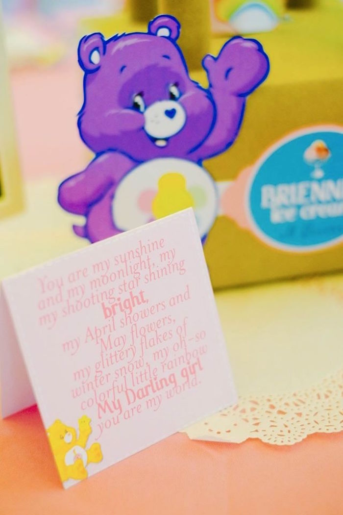Stationery from a Care Bears Themed Birthday Party via Kara's Party Ideas KarasPartyIdeas.com (31)