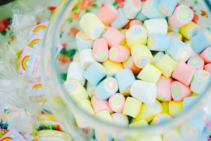 Marshmallow Sweets from a Care Bears Themed Birthday Party via Kara's Party Ideas KarasPartyIdeas.com (28)