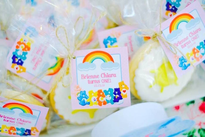 Sugar Cookies From A Care Bears Themed Birthday Party Via Karas Ideas KarasPartyIdeas