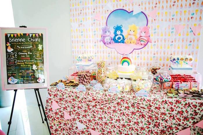 Dessert Table from a Care Bears Themed Birthday Party via Kara's Party Ideas KarasPartyIdeas.com (18)