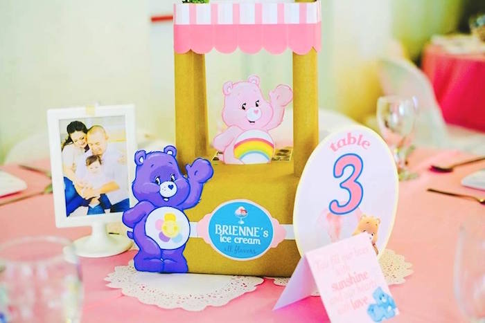 Guest Table Centerpiece from a Care Bears Themed Birthday Party via Kara's Party Ideas KarasPartyIdeas.com (16)