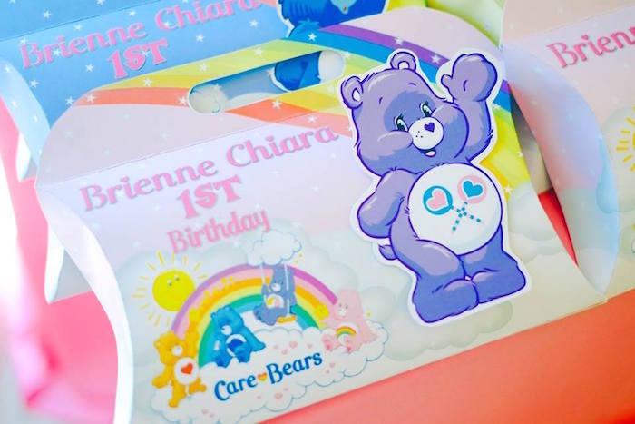 Pillow Favor Box from a Care Bears Themed Birthday Party via Kara's Party Ideas KarasPartyIdeas.com (12)