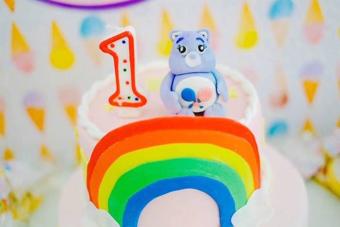 Top of Cake from a Care Bears Themed Birthday Party via Kara's Party Ideas KarasPartyIdeas.com (11)