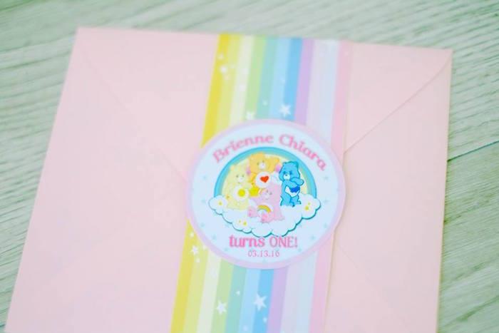 Invitation Envelope from a Care Bears Themed Birthday Party via Kara's Party Ideas KarasPartyIdeas.com (55)