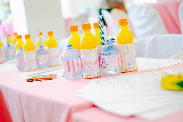 Drinks from a Care Bears Themed Birthday Party via Kara's Party Ideas KarasPartyIdeas.com (6)