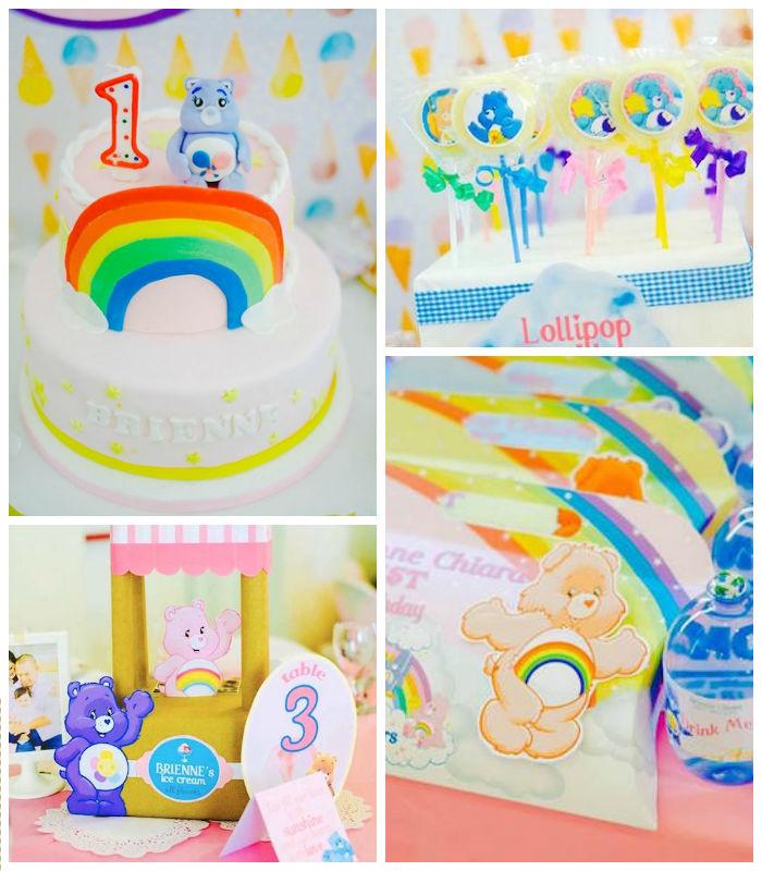 Details from a Care Bears Themed Birthday Party via Kara's Party Ideas KarasPartyIdeas.com (1)