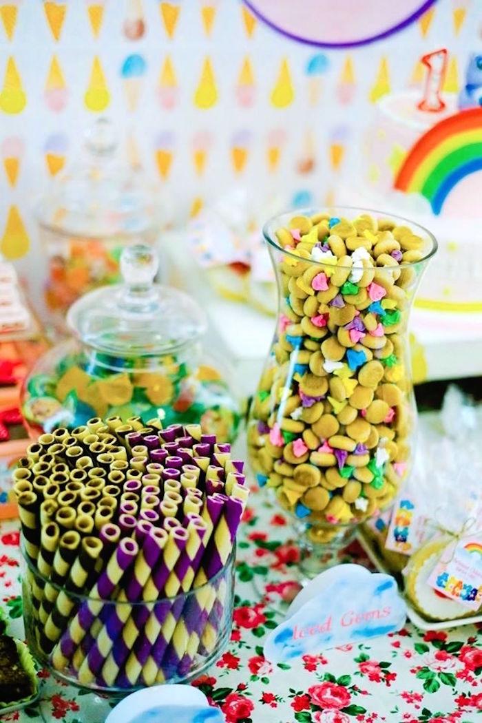 Sweet Snacks from a Care Bears Themed Birthday Party via Kara's Party Ideas KarasPartyIdeas.com (52)