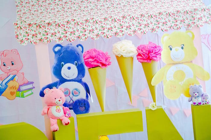 Decor from a Care Bears Themed Birthday Party via Kara's Party Ideas KarasPartyIdeas.com (50)
