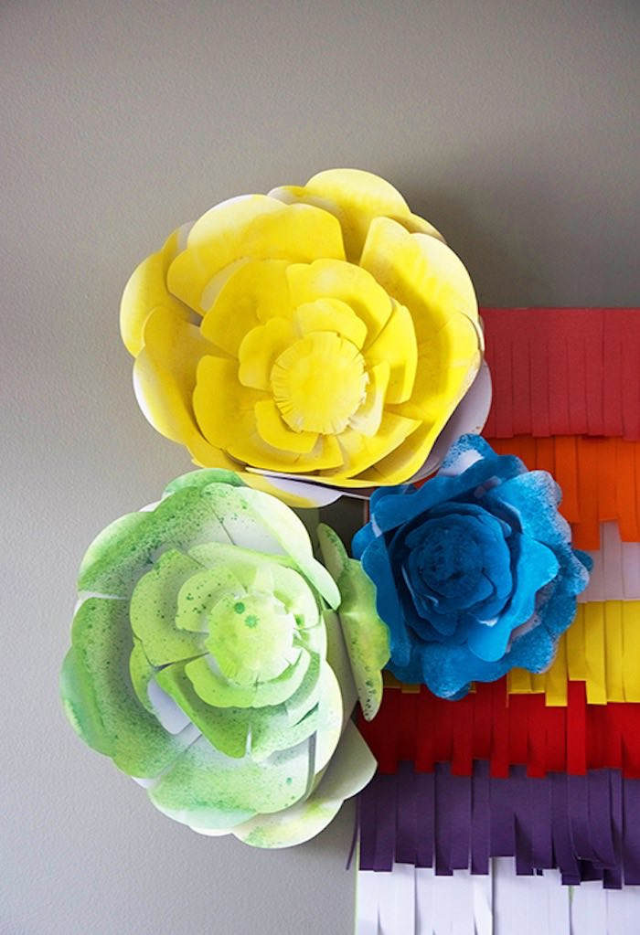Paper Flowers from a Cinco de Mayo Themed Birthday Party via Kara's Party Ideas KarasPartyIdeas.com (9)