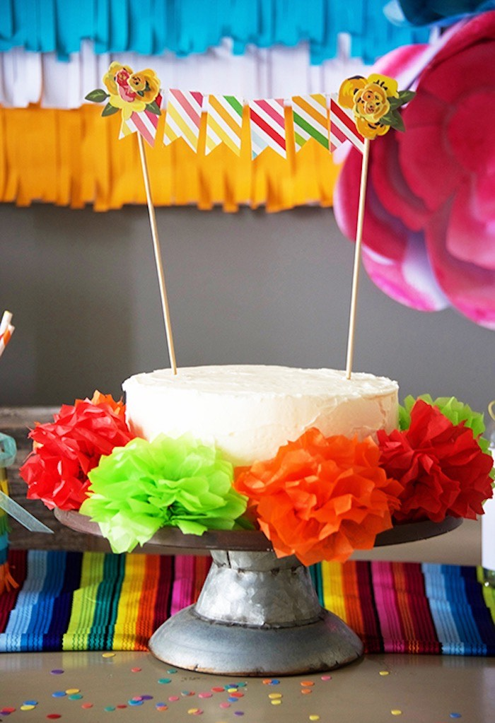 Cake from a Cinco de Mayo Themed Birthday Party via Kara's Party Ideas KarasPartyIdeas.com (17)