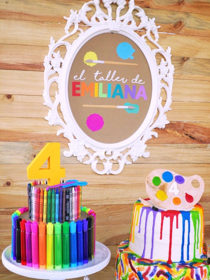 Karas Party Ideas Colorful Art Studio Birthday Party Karas Party