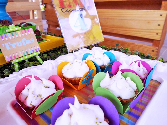 Food From A Colorful Art Studio Birthday Party Via Karas Ideas