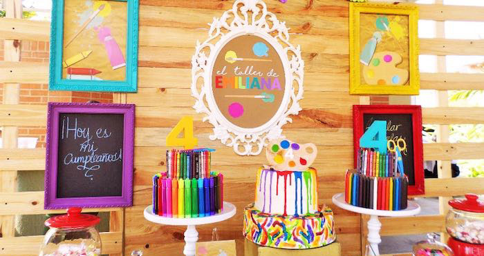 Details from a Colorful Art Studio Birthday Party via Kara's Party Ideas | KarasPartyIdeas.com (2)