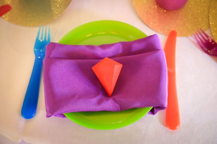 Place Setting from a Colorful Geometric Mickey Mouse Birthday Party via Kara's Party Ideas KarasPartyIdeas.com (39)