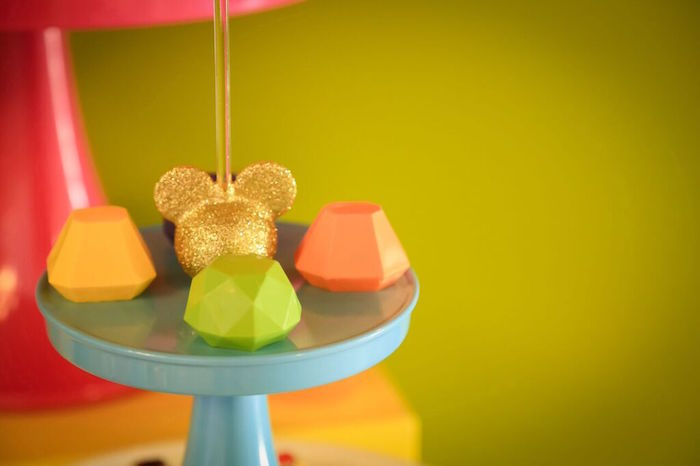Chocolates + Cake Pop from a Colorful Geometric Mickey Mouse Birthday Party via Kara's Party Ideas KarasPartyIdeas.com (29)