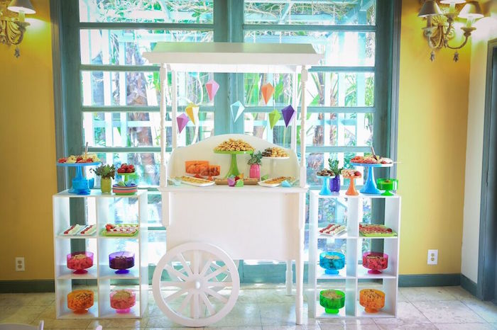Food Cart from a Colorful Geometric Mickey Mouse Birthday Party via Kara's Party Ideas KarasPartyIdeas.com (50)