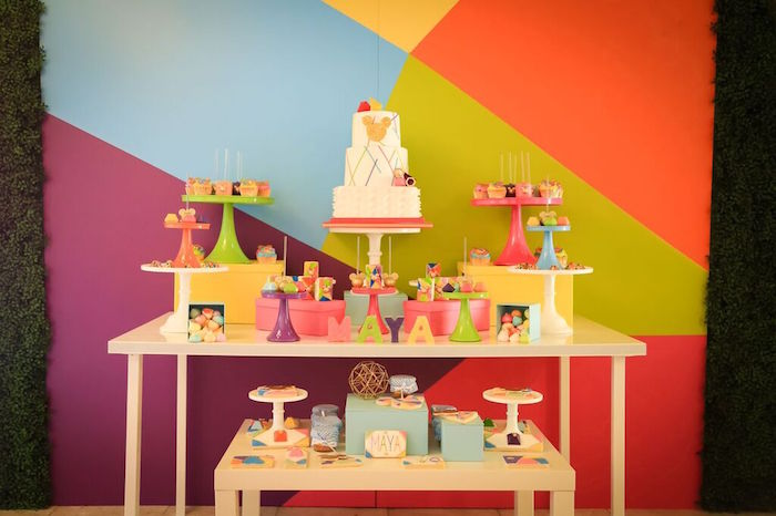 Sweet Table from a Colorful Geometric Mickey Mouse Birthday Party via Kara's Party Ideas KarasPartyIdeas.com (17)