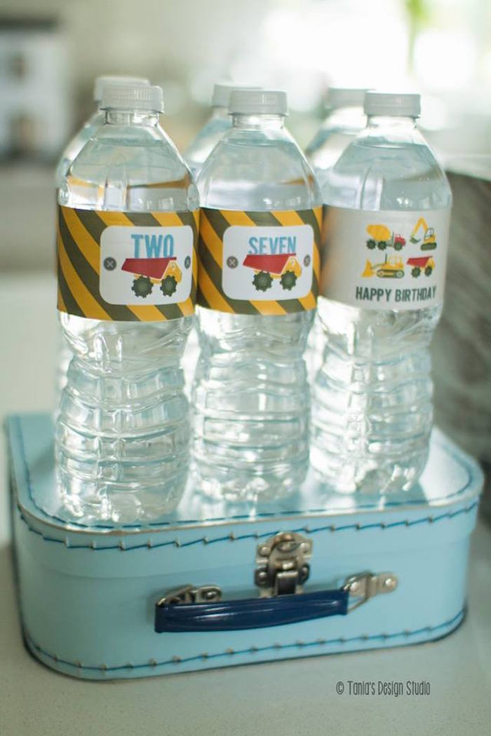 Water Bottles from a Construction Birthday Party via Kara's Party Ideas! KarasPartyIdeas.com (33)