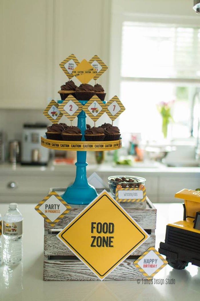 Food Zone from a Construction Birthday Party via Kara's Party Ideas! KarasPartyIdeas.com (25)